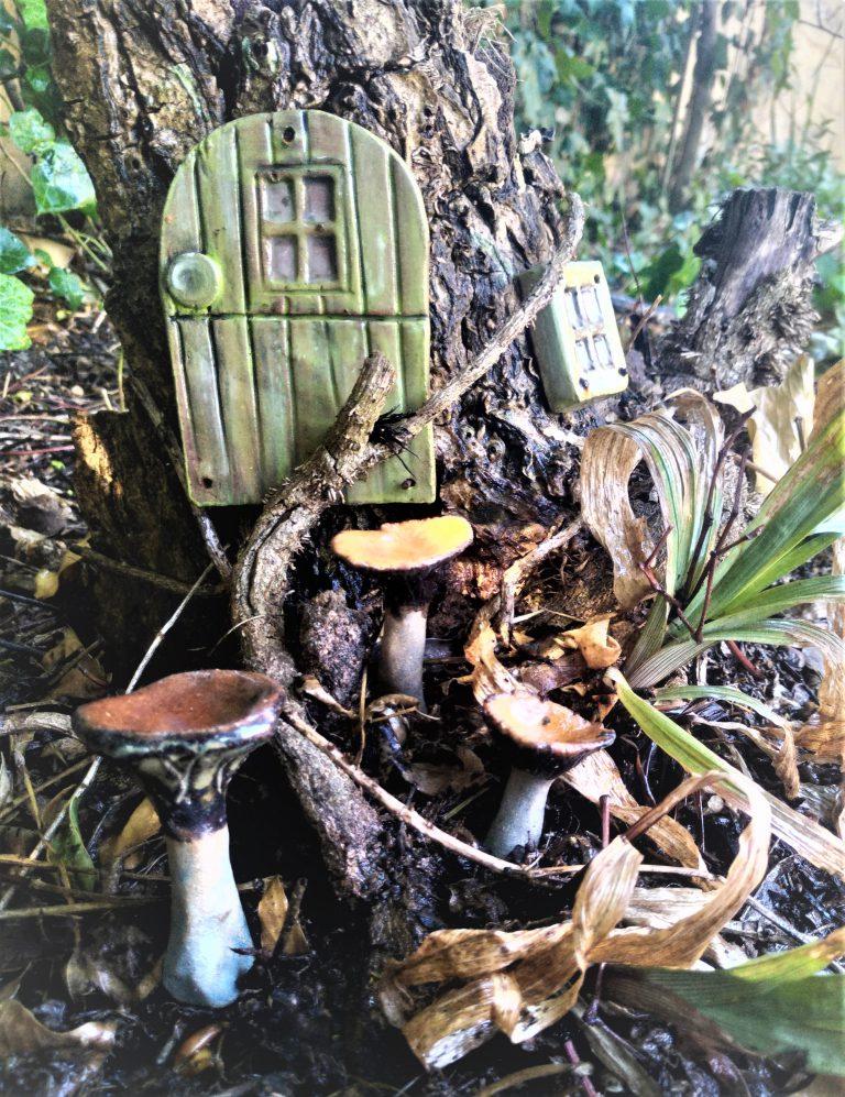 Ceramics, mushroom sculptures
