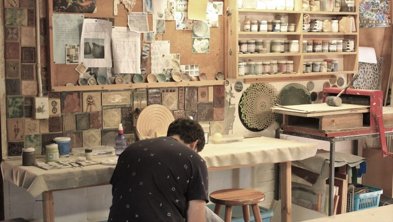 Ceramics studio, clay play space